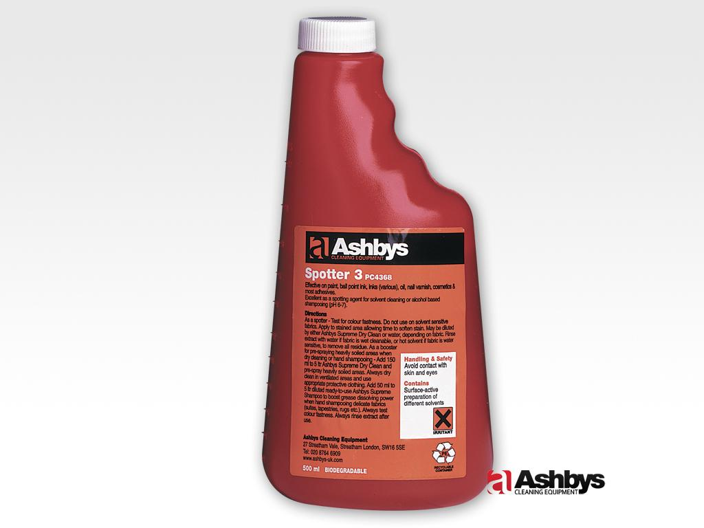 ashbys spotter 3 for removing paint and inks from carpet and upholstery