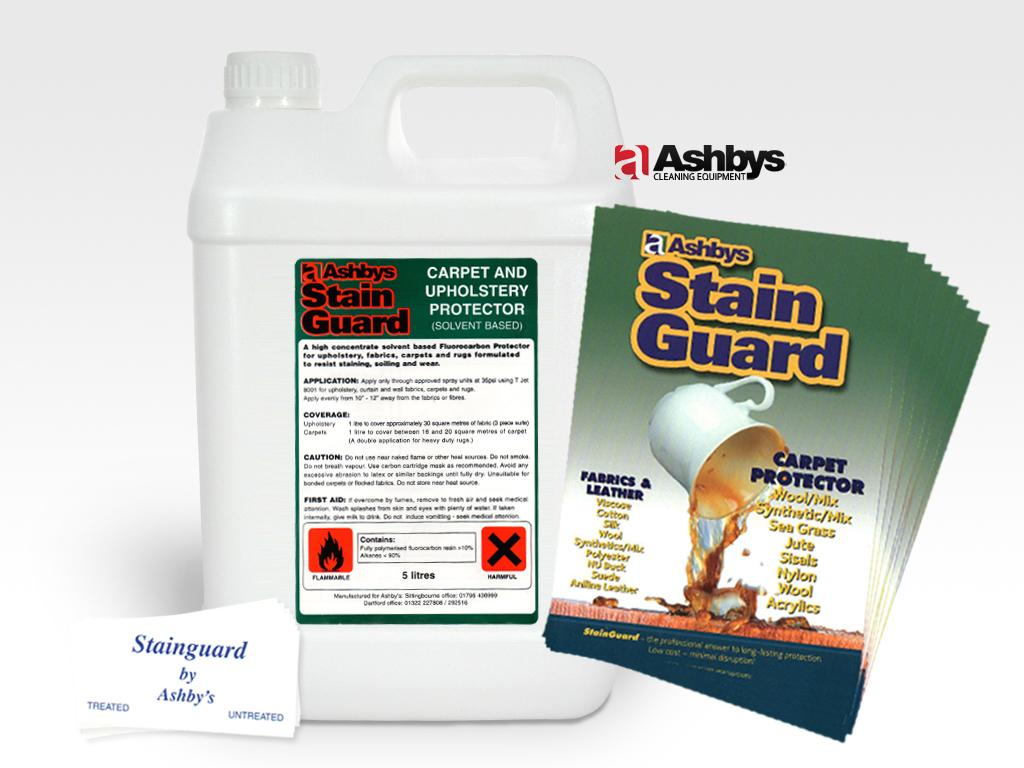 Ashbys Stain Guard Solvent Based Carpet, Upholstery & Leather Stain Protector 5 Ltr